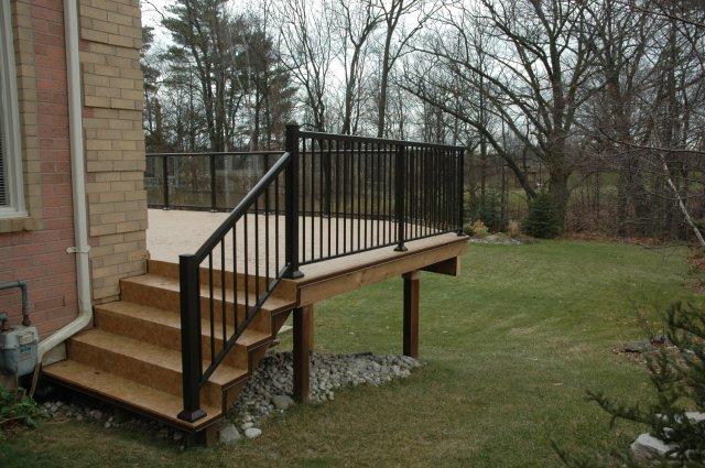 Pics Photos Deck Construction Aluminum Railings And Privacy