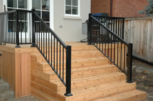 aluminum deck railing lowes reviews thumb picket railings in on cost per foot